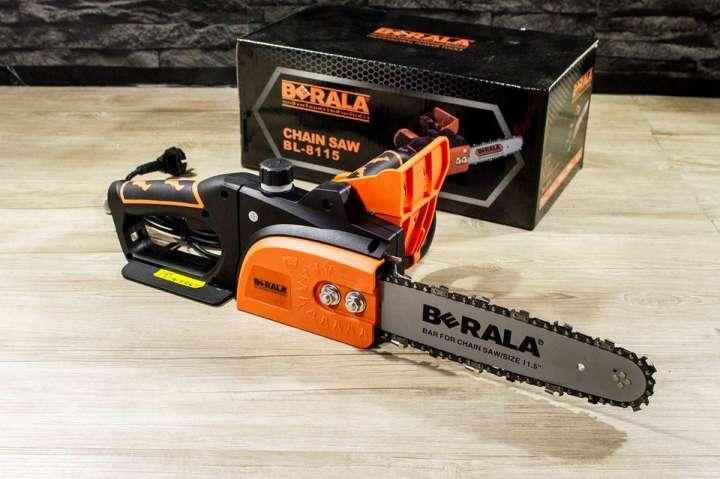 ส่งฟรี!! ถูกที่สุด เลื่อยไฟฟ้า Berala BL-8115 พร้อมโซ่ 1 เส้นขนาด 11.5 นิ้ว 700W ไม่ต้องใช้น้ำมัน ไม่ต้องเติมน้ำมันโอตาลูป