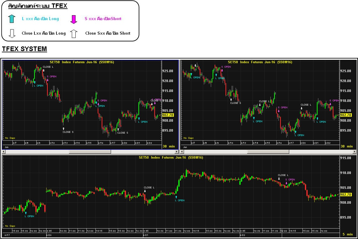 Trading system tfex