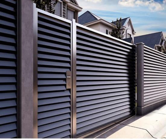 รั้วบ้านเหล็กระแนง