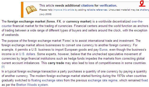 ตลาดแลกเปลี่ยนต่างประเทศ (ฟอร์เร๊ก , เอฟเอ๊ส , ตลาดแลกเปลี่ยนสกุลเงิน) คือ  การค้า หรือการซื้อ-ขาย สุกลเงินตราทั่วโลก ศูนย์กลางการเงินทั่วโลก(มีหลายที่  เช่น ...