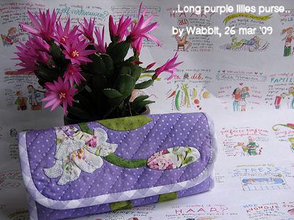 ..Long purple Lilies purse..